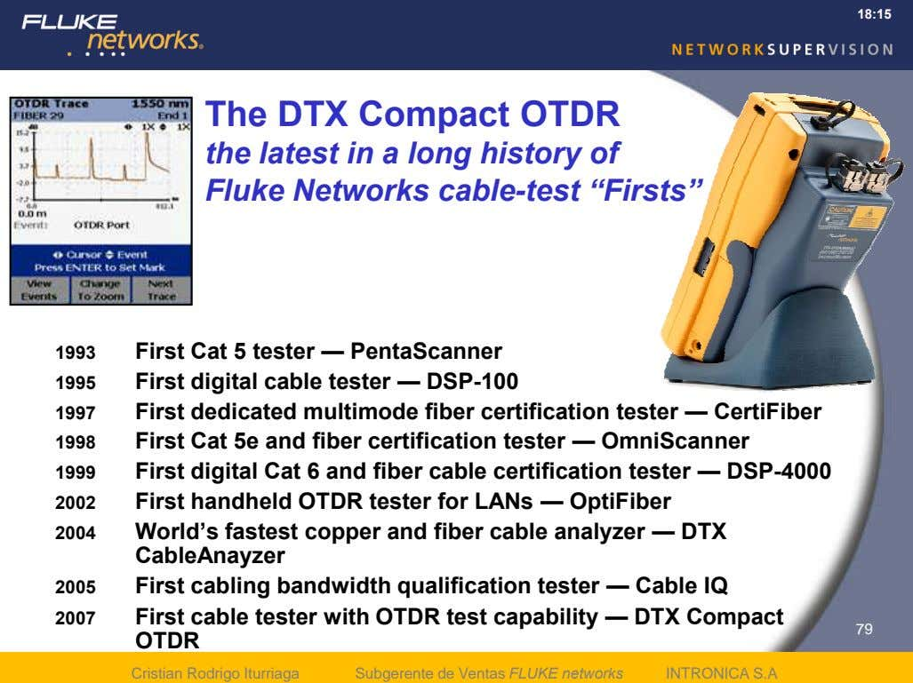18:15 The DTX Compact OTDR the latest in a long history of Fluke Networks cable-test