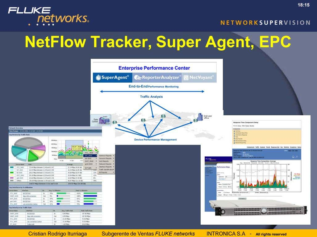 18:15 NetFlow Tracker, Super Agent, EPC Enterprise Performance Center End-to-End Performance Monitoring Traffic