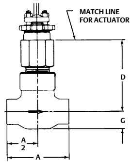 MATCH LINE FOR ACTUATOR D G A 2 A