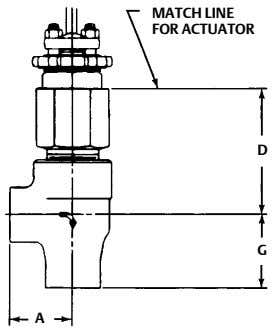 MATCH LINE FOR ACTUATOR D G A