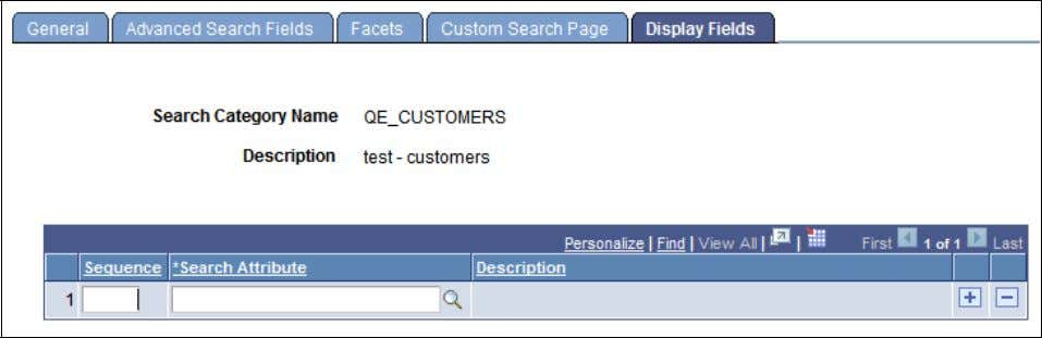 Chapter 5 Creating Search Categories Display Fields page S e q u e n c e