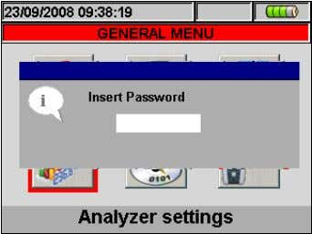 the user to insert password as shown in the below screen: Fig. 13: Insert Password screen