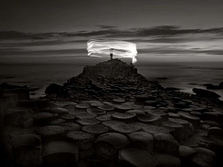 Ugo Ricciardi, Nightscapes, Giant's Causeway and figure, Northern Ireland, 2018 Ugo Ricciardi, Nightscapes, Temple of Selinunte