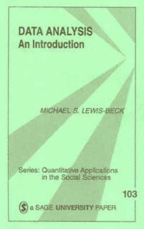 title: Data Analysis : An Introduction Sage University Papers Series. Quantitative Applications in the author: