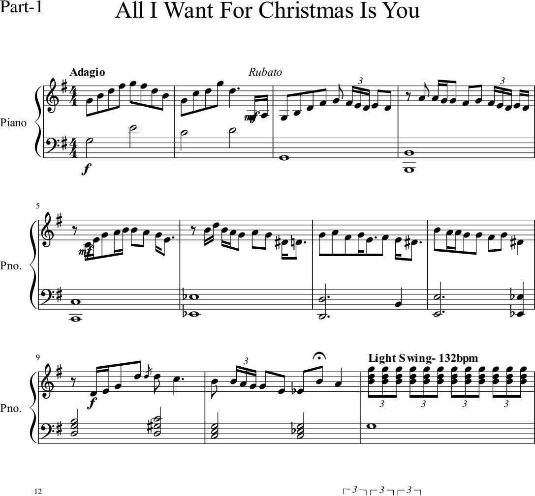 Part-1 All I Want For Christmas Is You Adagio Rubato     