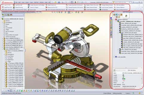 of all information created over the life cycle of a product. Fig.: SOLIDWORKS direct integration in