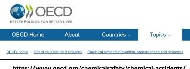 Diretiva SEVESO III - mais informação https://www.oecd.org/chemicalsafety/chemical-accidents/