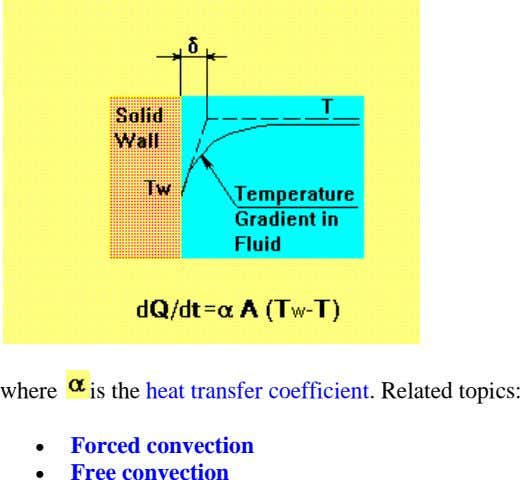 where is the heat transfer coefficient. Related topics:   Forced convection Free convection