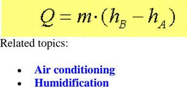 Related topics:   Air conditioning Humidification