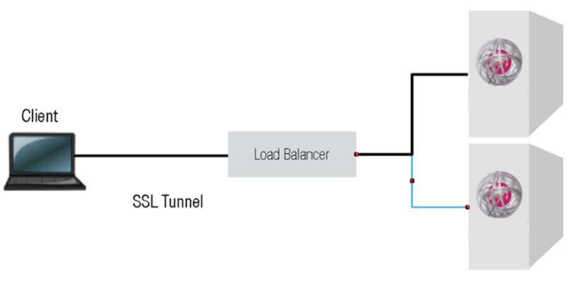 (no single point of failure). 3.1.1. SSL Tunneling Image 8: SSL Tunneling (load balancing method) With