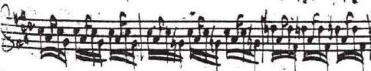 Figure 1.3 Excerpt from the Preludio of J.S. Bach's Partita in E major (BWV 1006) From