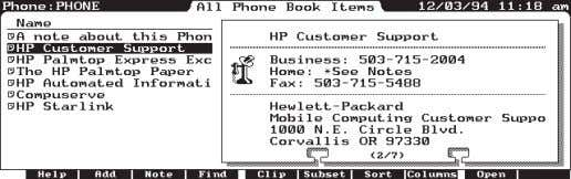 appointment list. Figure 2 - An Appointment Book record. Figure 3 - A PhoneBook record. PDA