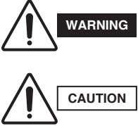 WARNING CAUTION