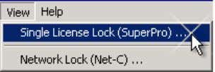 execute the command View/Single License Lock (SuperPro) 4) Take note of the lock serial number. to