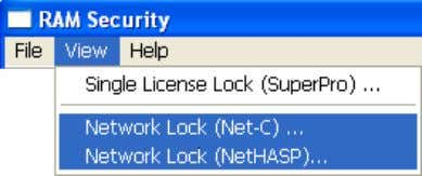 serial number. Execute the command Network Lock (Net-C) or Network Lock (NetHASP)… to get the 4)