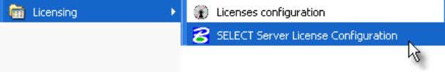 se | SELECT Server License Configuration as shown below: If this is being set for the
