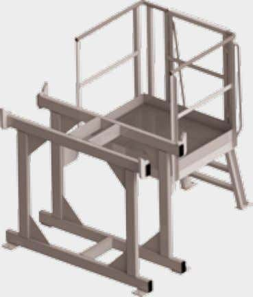 hooks For the transport of other goods using lifting gear Abstellbock mit Wartungsbühne Stand with maintenance