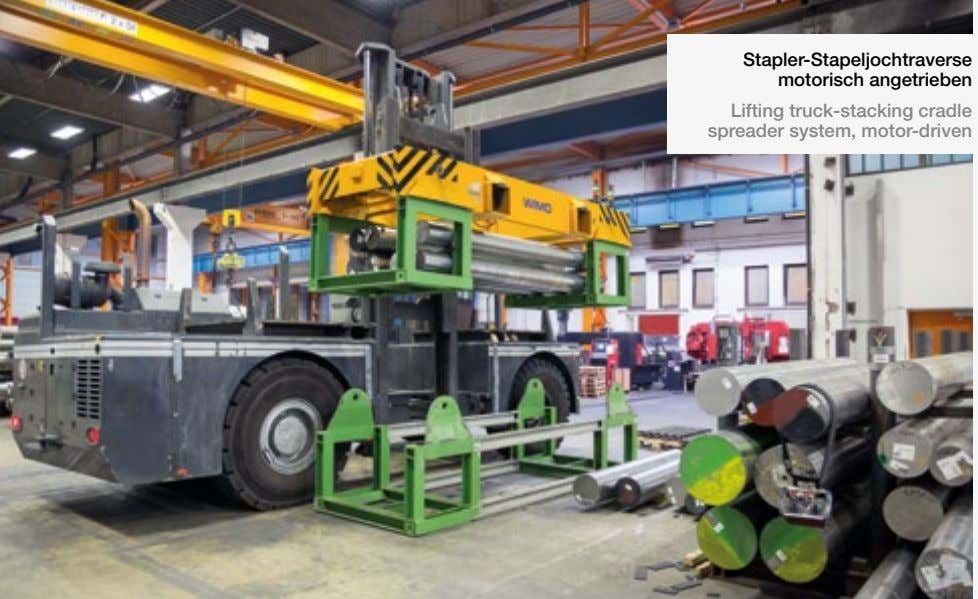 Stapler-Stapeljochtraverse motorisch angetrieben Lifting truck-stacking cradle spreader system, motor-driven
