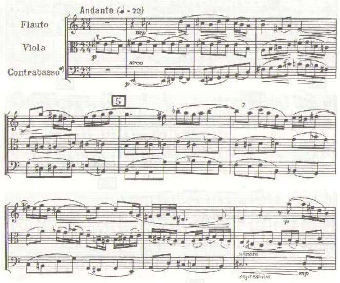 up bow, demonstrating the composer's wish for a quiet beginning (Example 6). Ex. 6. Concertino, movement