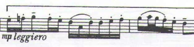 motive with rhythmic changes added to the original pattern. Ex. 10. Sonata movement I, flute part,