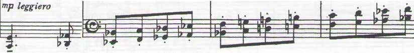 15, with the fifth of the chord consistently omitted. Ex. 14. Sonata movement II, piano part