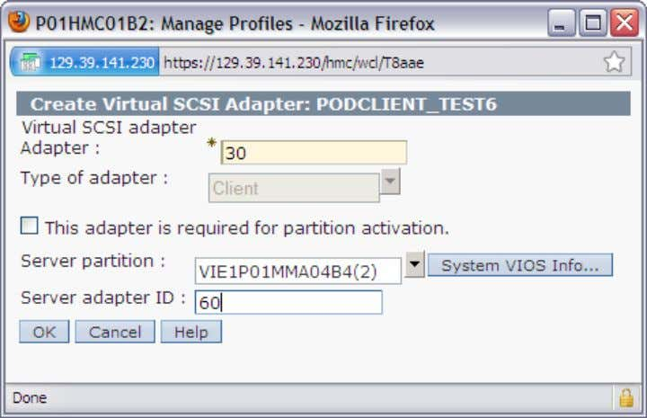 "/0"" 5.6.7. create client partition device for VIO1 and storage G1 © IBM France ITD La"