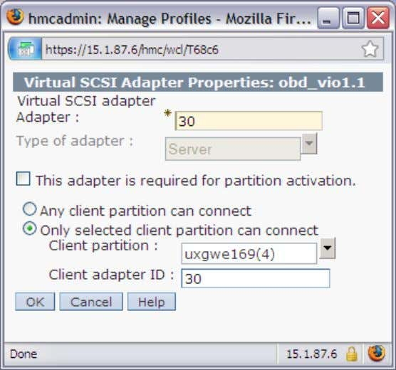 the server virtual scsi adapte r ( see example below ) : mkvg -f -vg vioserver1VG
