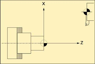 spindle axis) and in the X direction (transverse motion). 5.1 lathe co-ordinate system There are also
