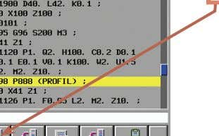 to copy the control section M98 P888 to the clipboard. The section contains the subprogram function