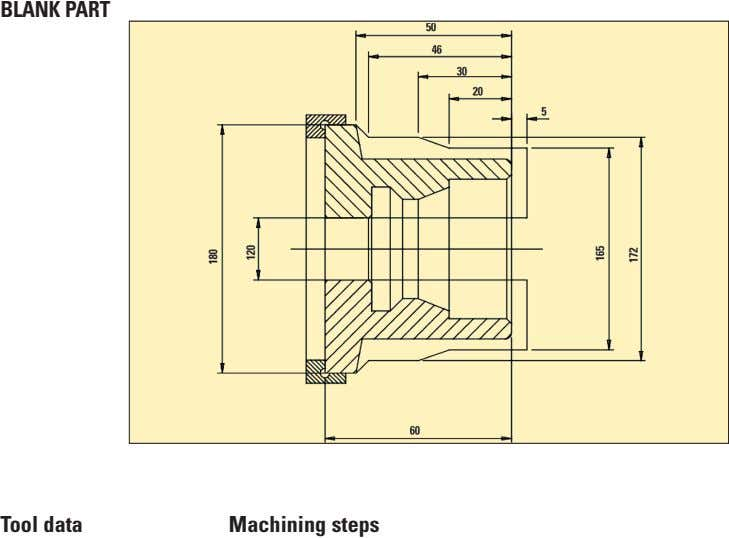 BlaNK PaRT Tool data Machining steps