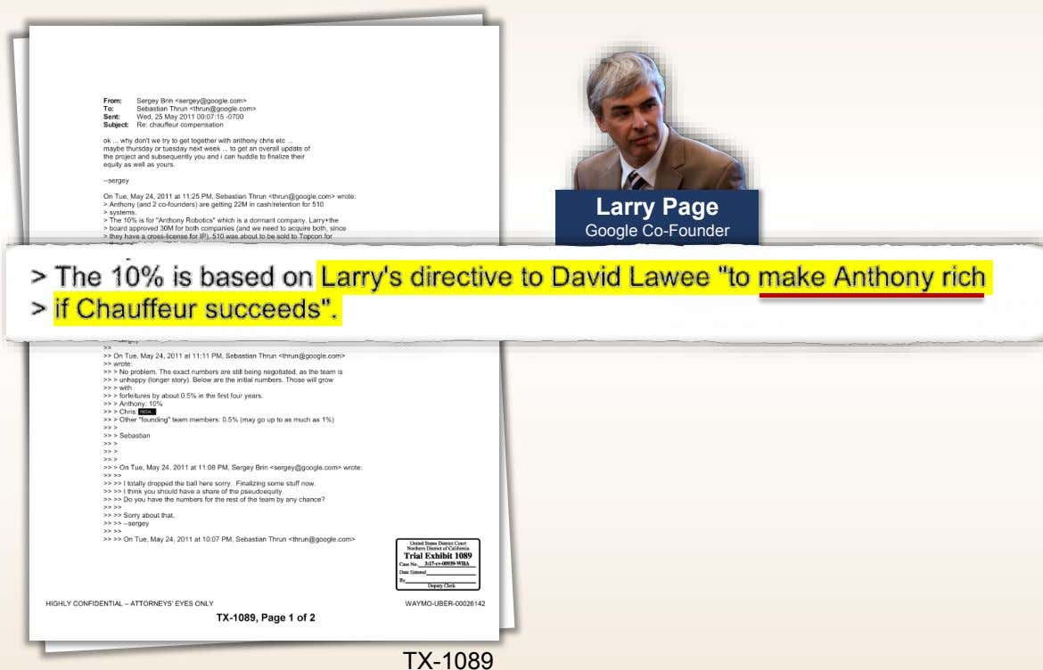 Larry Page Google Co-Founder TX-1089