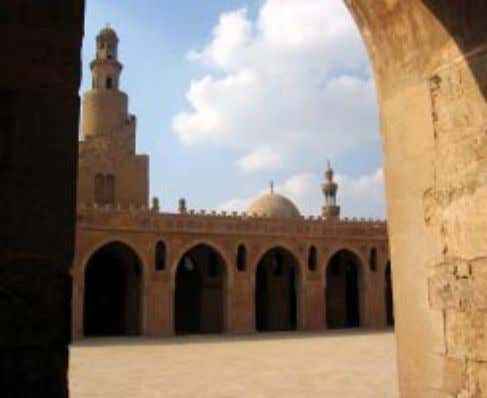 The Ibn Toulon mosque is famous for its minaret with an outside spiral ladder. Cairo