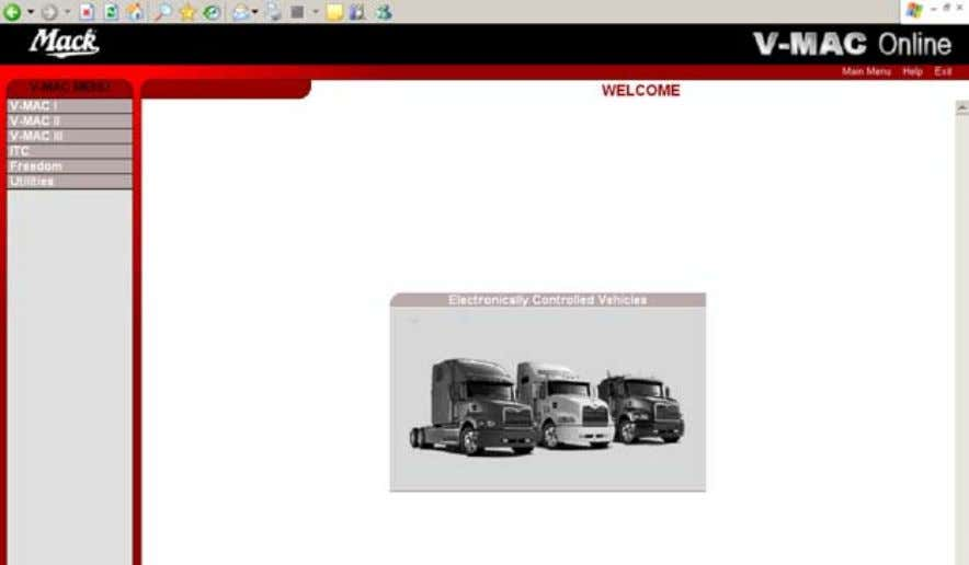 vehicles and FREEDOM Mack medium duty vehicles. V-MAC Online is used in conjunction with Dealer Programming