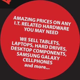 AMAZinG PriCES On Any i.T. rElATEd HArdWArE nEEd yOU MAy SEll TABlETS, lAPTOPS, HArd drivES,