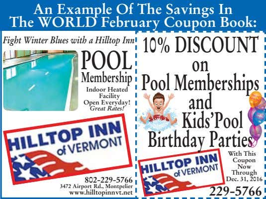 An Example Of The Savings In The WORLD February Coupon Book: Fight Winter Blues with