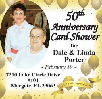 50 th Anniversary Card Shower for Dale & Linda Porter ~ February 19 ~ 7210