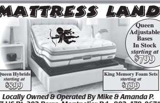 Queen Adjustable Bases In Stock starting at $ 799 King Memory Foam Sets starting at