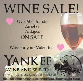 WINE SALE! Over 900 Brands Varieties Vintages ON SALE Wine for your Valentine! 126 Main