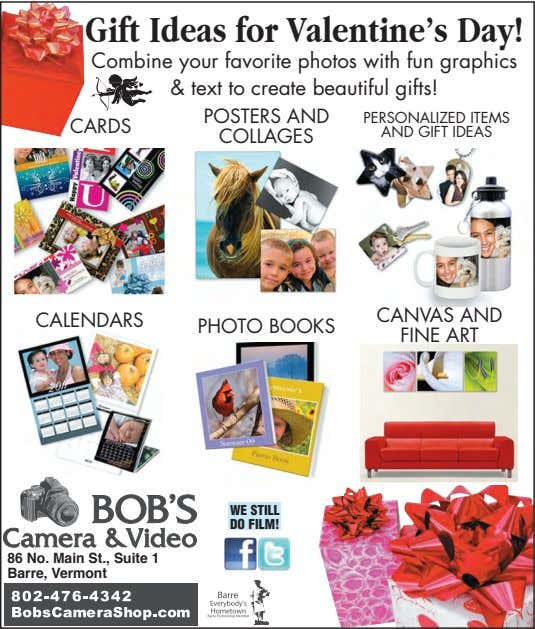 Gift Ideas for Valentine's Day! Combine your favorite photos with fun graphics & text to