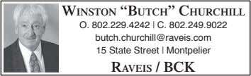 "WINSTON ""BUTCH"" CHURCHILL O. 802.229.4242 