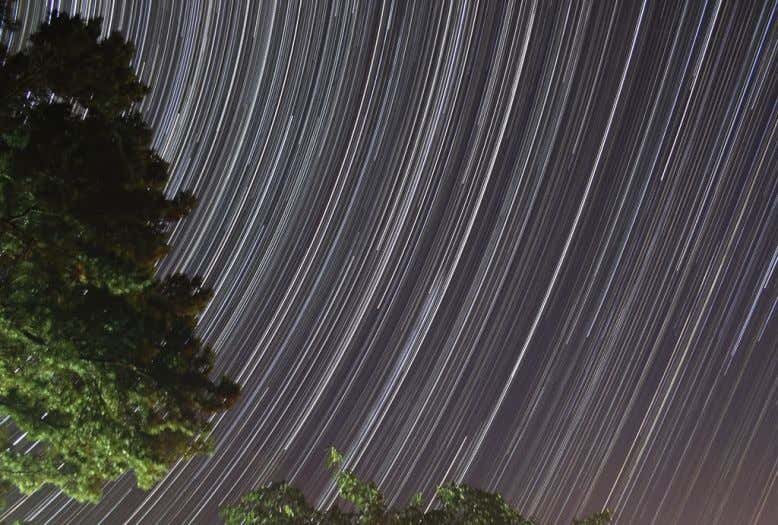 Here are a few examples of single frame 30 seconds exposures capture a couple meteors as
