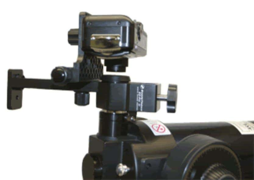 can purchase a special camera mount that attaches to the eyepiece and holds the camera in