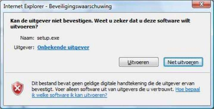 on Run (Uitvoeren = Dutch) 4. Following screen appears: 5. Click on Run again 6. Then