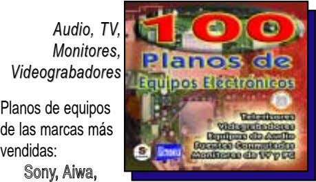Audio, Audio, TVTV,, Monitores, Monitores, VVideograbadores ideograbadores Planos de equipos de las marcas más vendidas: SSoonnyy,,
