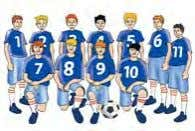 sofa mirror CD football team 3 Look, read and correct in your notebook. Then listen and