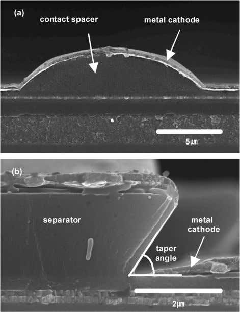 JOURNAL OF DISPLAY TECHNOLOGY, VOL. 5, NO. 12, DECEMBER 2009 Fig. 3. SEM images of: (a)