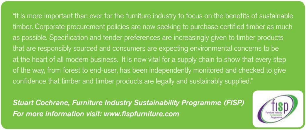 """It is more important than ever for the furniture industry to focus on the benefits"