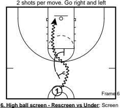 2 shots per move. Go right and left c 1 Frame 6 6. High ball