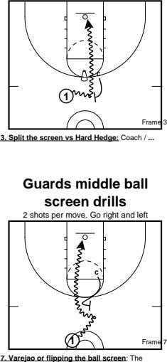 c 1 Frame 3 3. Split the screen vs Hard Hedge: Coach / Guards middle