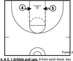 4 5 Frame 4 4. & 5. 1 dribble pull ups: 8 from each block.